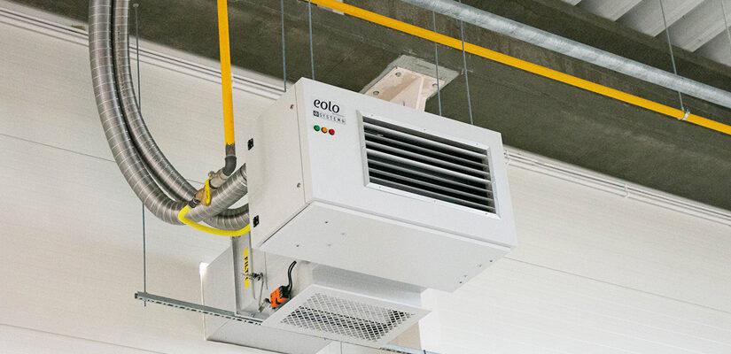 Nagrzewnice powietrza gazowe dla ergonomicznego ogrzewania rozbudowanych obiektów przemysłowych